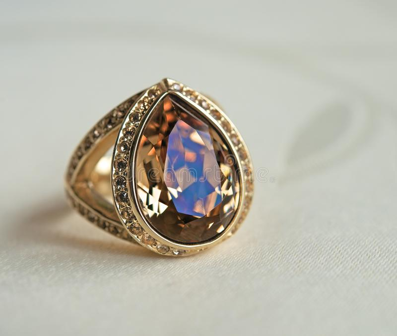 A ring with a stone stock photos