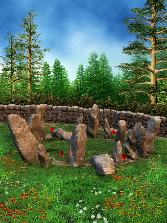 Ring of stones on a meadow