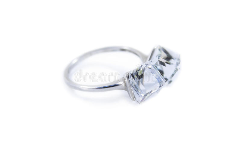 Ring with topaz royalty free stock photo
