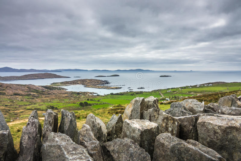 Ring van Kerry Landscape royalty-vrije stock foto's