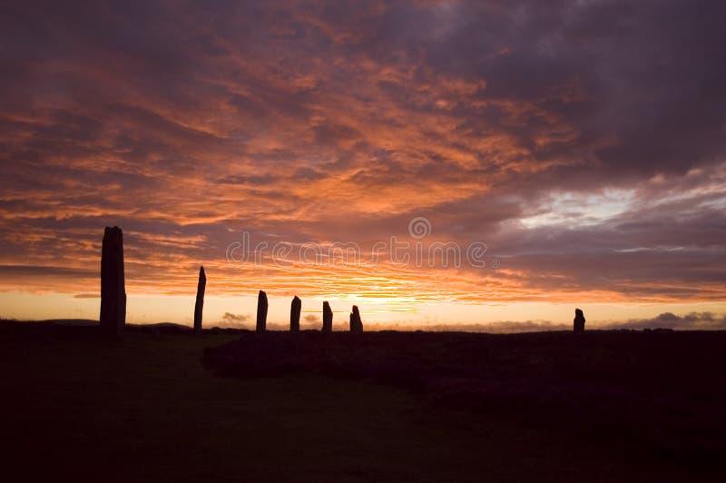 Ring von Brodgar, Orkneys, Schottland lizenzfreie stockfotografie