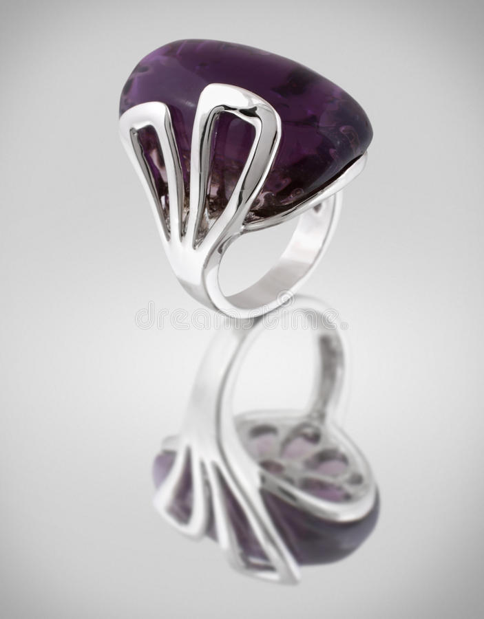 Download Ring wiht lilac gem stock image. Image of precious, accessory - 22635535