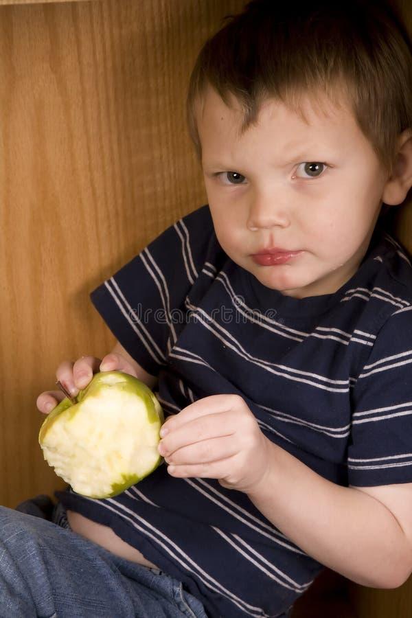 ringa för äpple royaltyfri fotografi