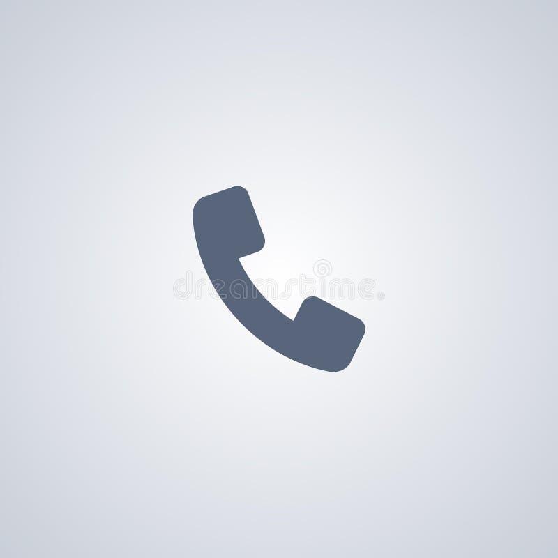 Ringa, kalla, den bästa plana symbolen för vektorn stock illustrationer