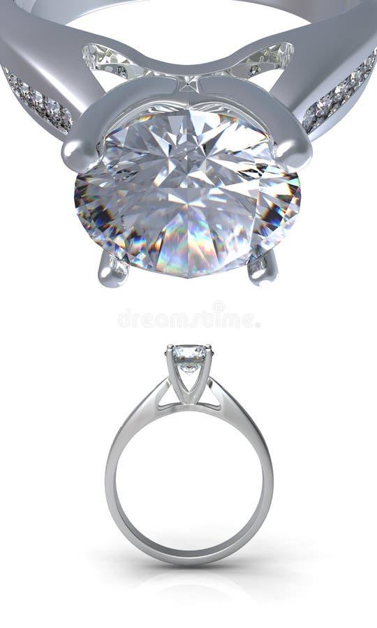 Ringa med diamanten arkivbilder