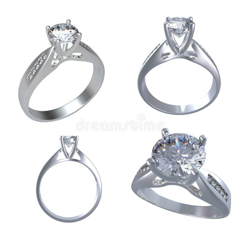 Ringa med diamanten royaltyfri bild