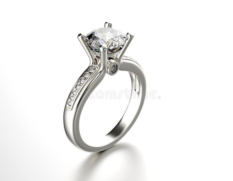 Ringa med diamanten Modesmyckenbakgrund arkivbild