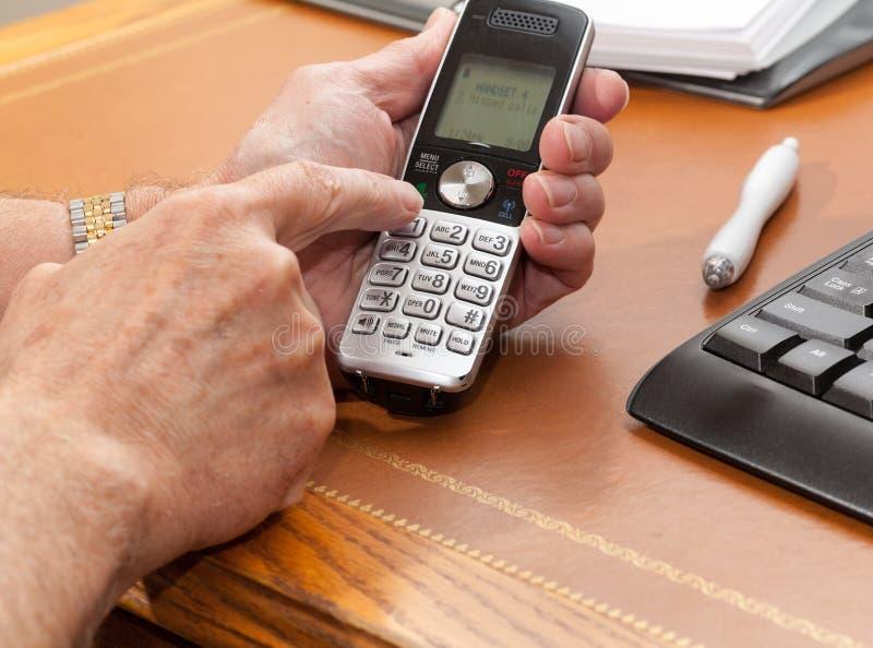 ringande mantelefonradio royaltyfria foton