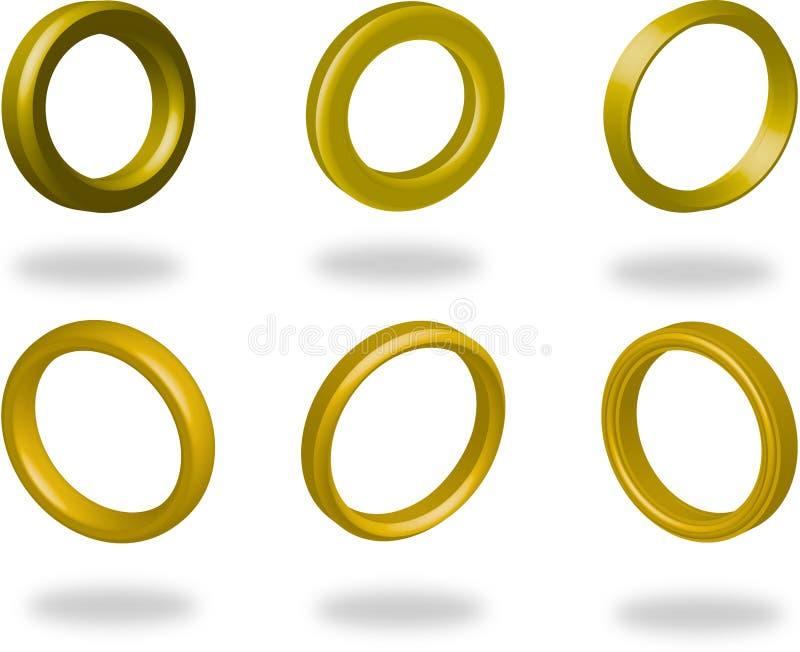 Ringe lizenzfreie abbildung