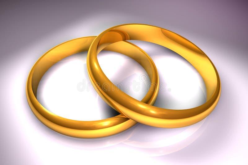 Ringe der Hochzeit 3d lizenzfreie abbildung