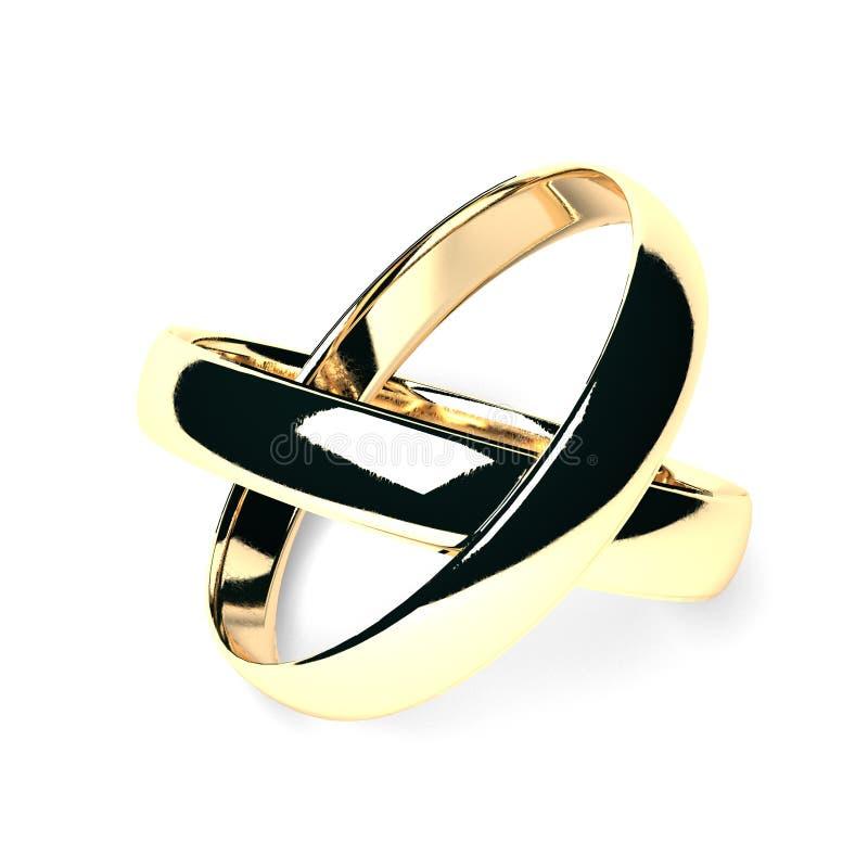 Ringe der Hochzeit 3d getrennt. lizenzfreies stockfoto
