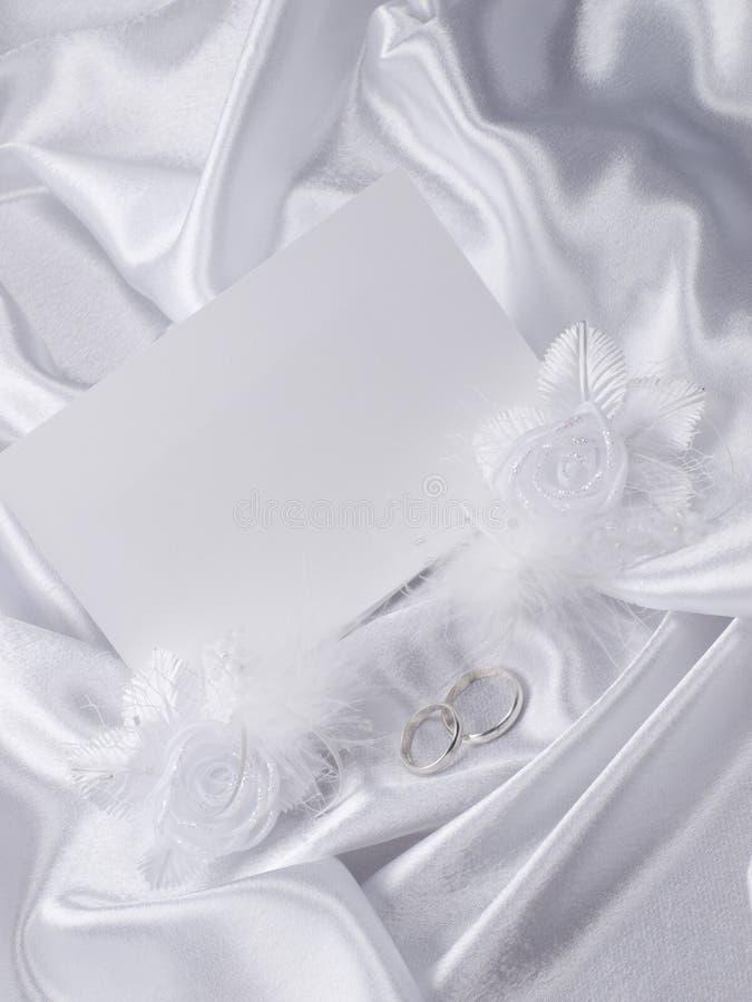 Ringe der silbernen Hochzeit, Karte lizenzfreies stockbild