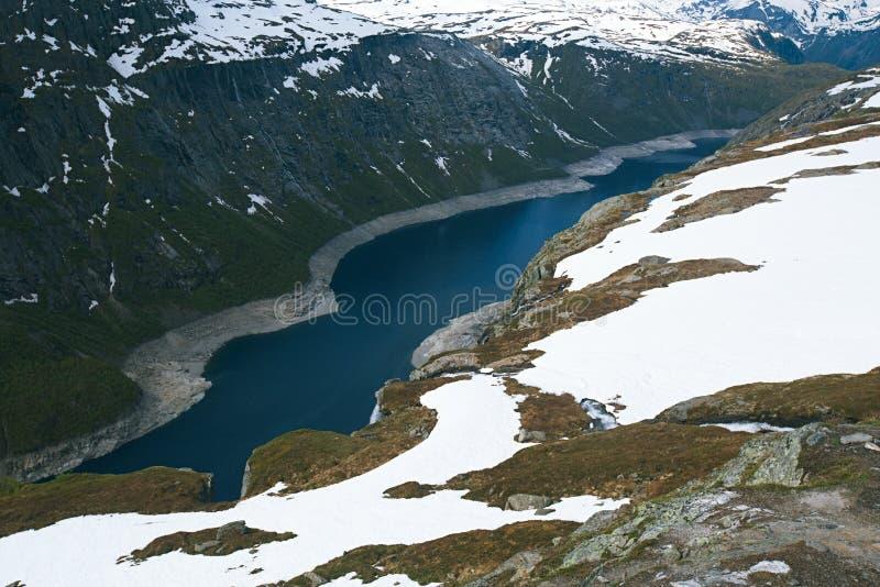 Ringedalsvatnet湖在挪威 免版税库存照片