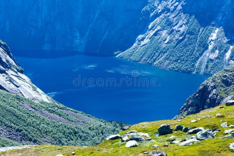 Ringedalsvatnet湖(挪威) 免版税库存图片