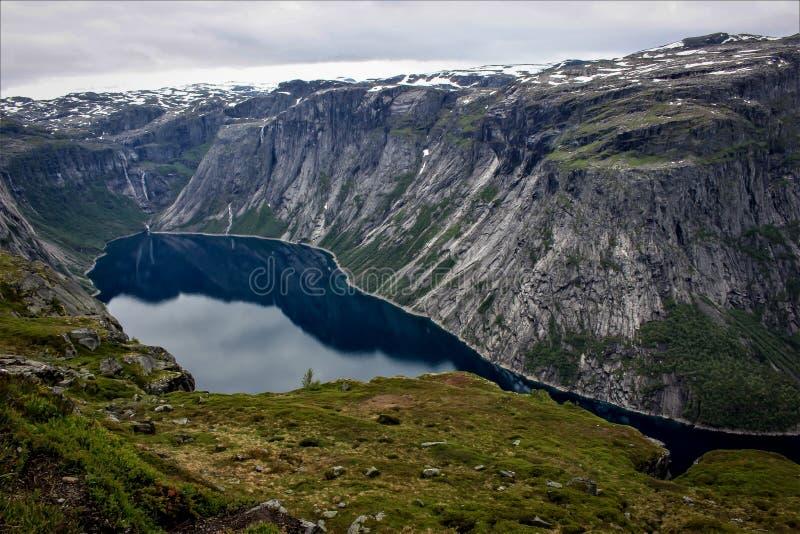 Ringedalsvatnet em Noruega fotografia de stock