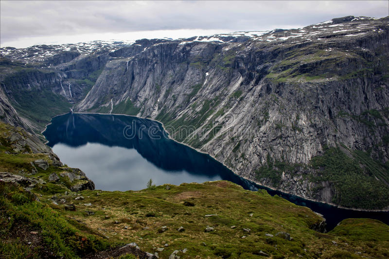 Ringedalsvatnet w Norwegia fotografia stock