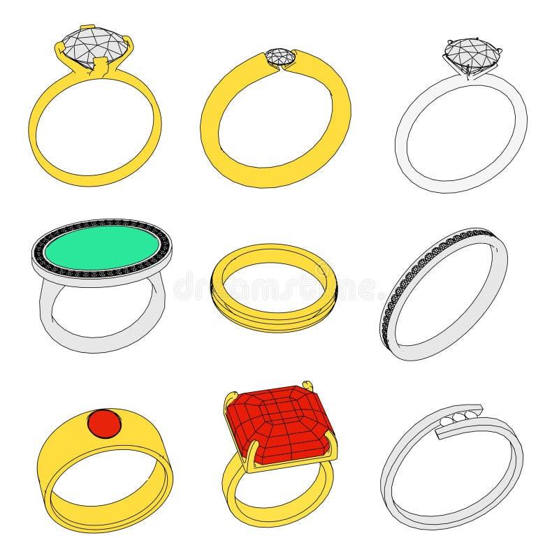Ringen royalty-vrije illustratie