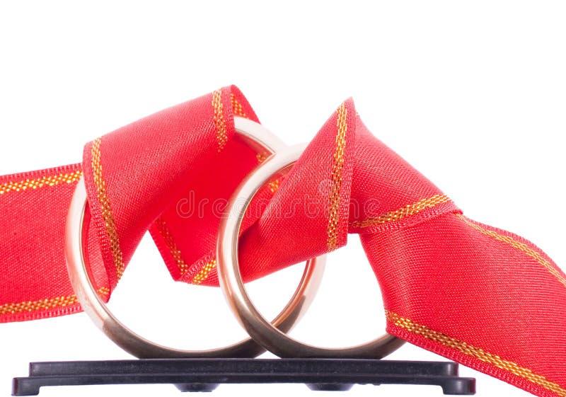 Ringen met streep stock foto