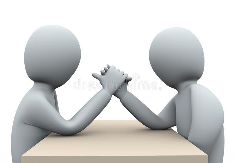 ringende Hand der Leute 3d lizenzfreie abbildung