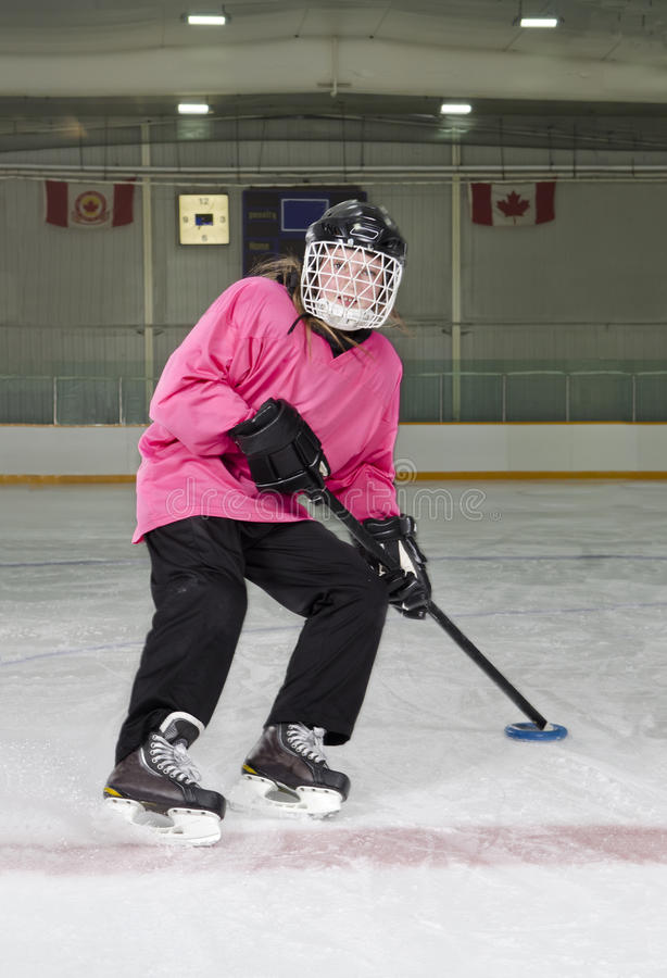 Download Ringette Skater In Action At Rink Stock Image - Image: 25583591