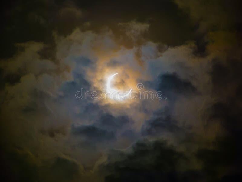 Ringförmige Eklipse lizenzfreies stockfoto