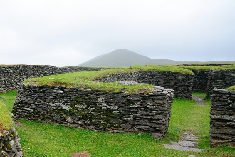 Ringfort, Leacanabuile,爱尔兰 图库摄影