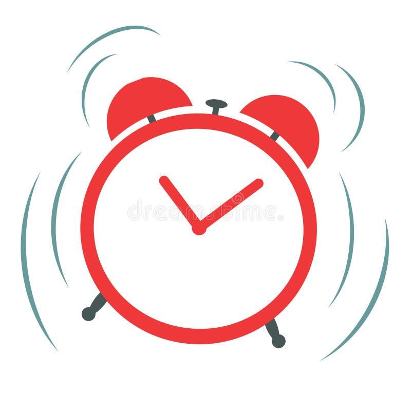 Ringing alarm clock royalty free illustration