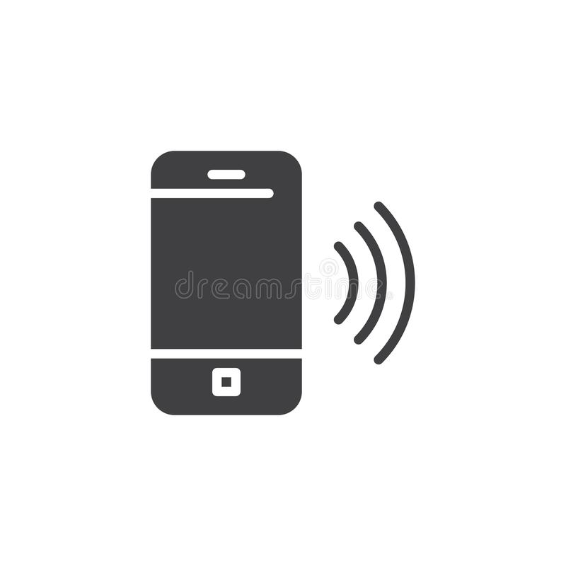 Ringing mobile phone vector icon royalty free illustration