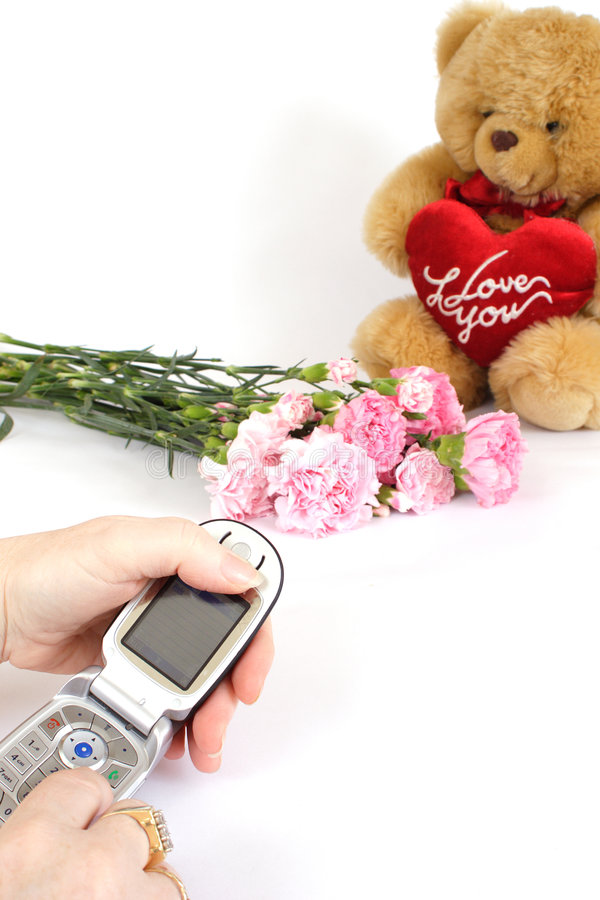 Download Ringing To Say Thankyou Royalty Free Stock Images - Image: 500839
