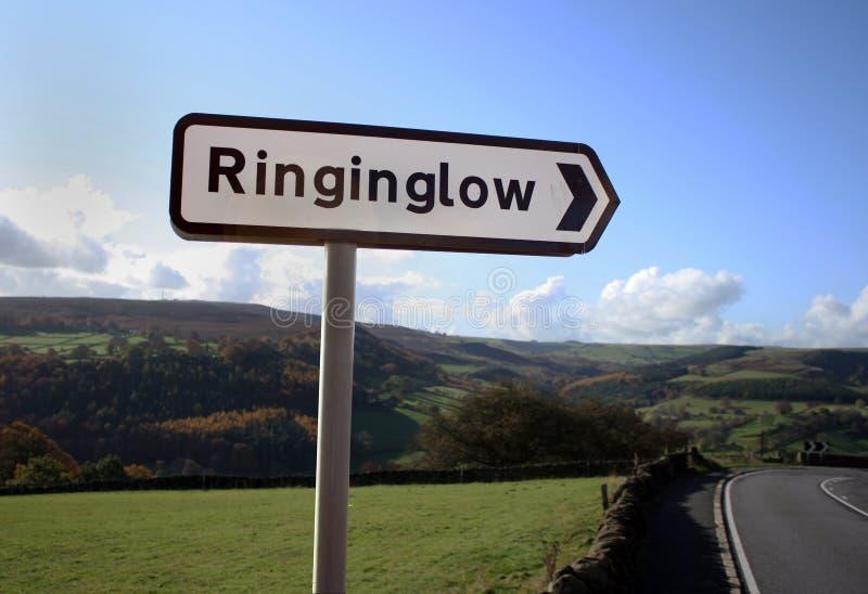 Ringinglow Sign Post stock image