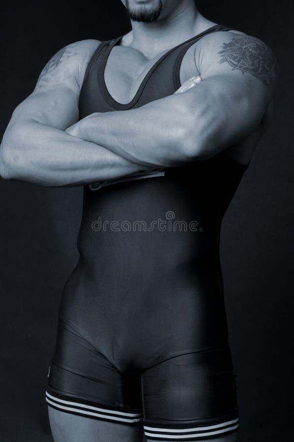 Ringkämpfer lizenzfreie stockbilder
