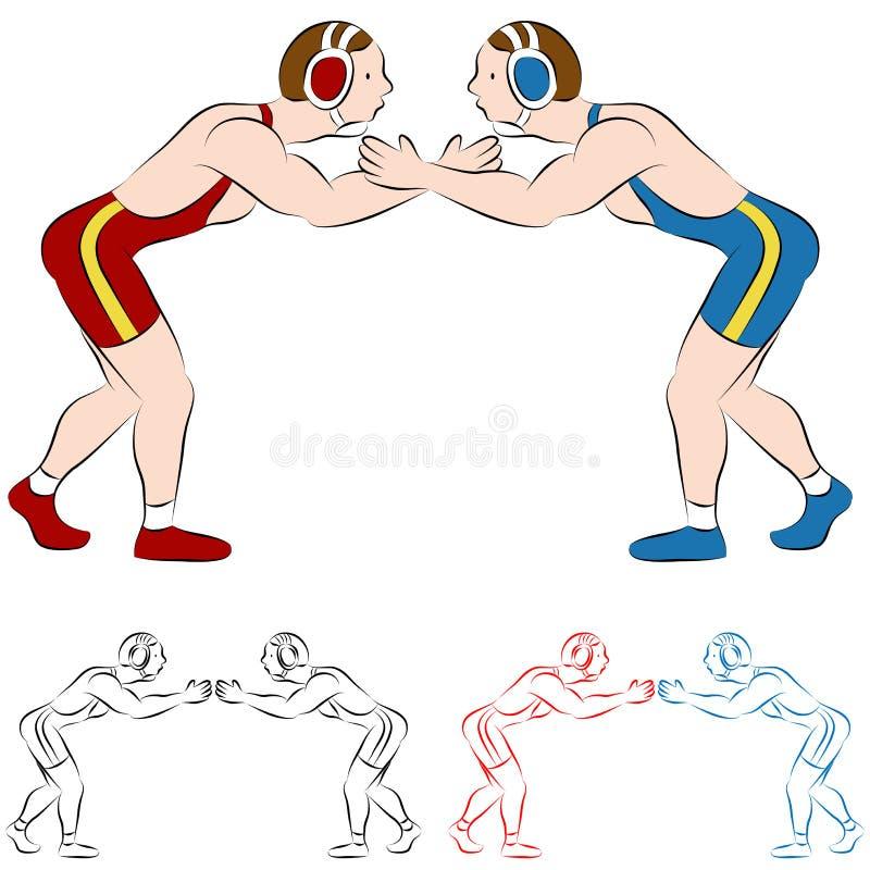 Ringkämpfer lizenzfreie abbildung
