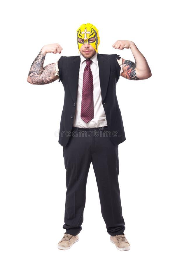 Ringkämpfer-Geschäftsmann stockfotografie