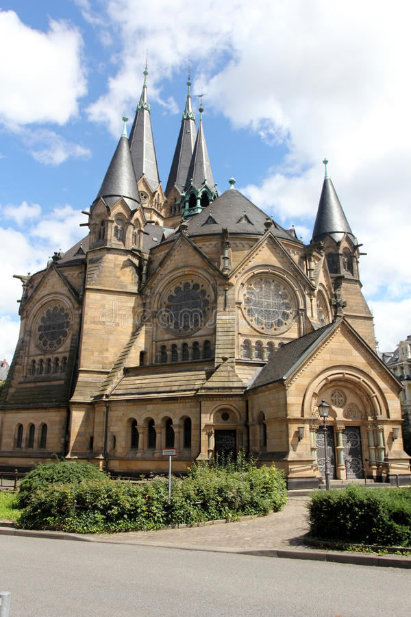 Ringkirche in Wiesbaden royalty-vrije stock afbeelding