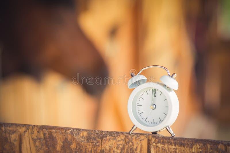 Ringklocka och häst i bakgrunden trä för vete för skugga för lantgård för bakgrundsbegreppsöra gammalt royaltyfria foton