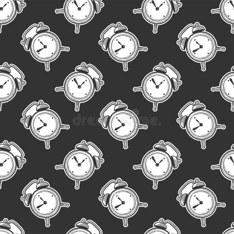 Ringklocka parallella klockor Vektor i klotter och att skissa stil royaltyfri illustrationer