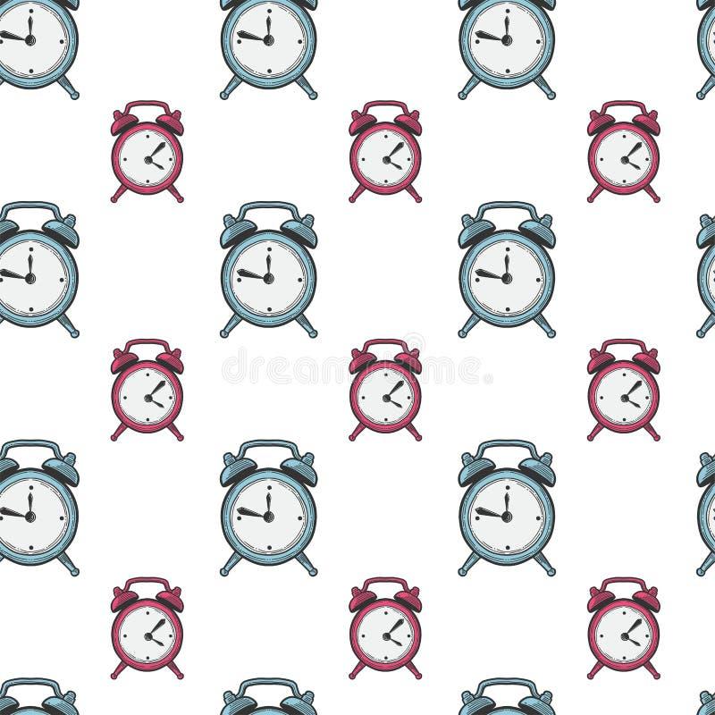 Ringklocka parallella klockor Vektor i klotter och att skissa stil vektor illustrationer