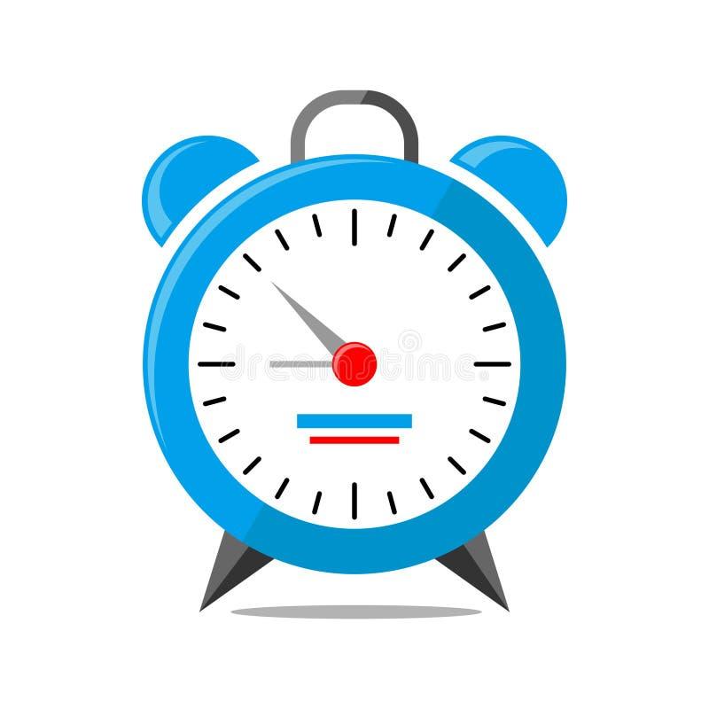 Ringklockalogosymbolen isolerade Klockaobjekt, tidkontorssymbol stock illustrationer