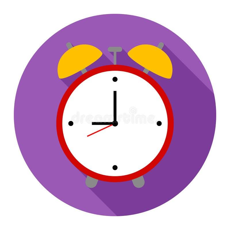 Ringklockasymbol på purpurfärgad bakgrund för något tillfälle vektor illustrationer