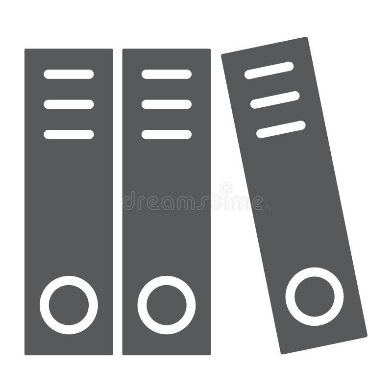 Ringmappe Glyphikone, -büro und -arbeit lizenzfreie abbildung