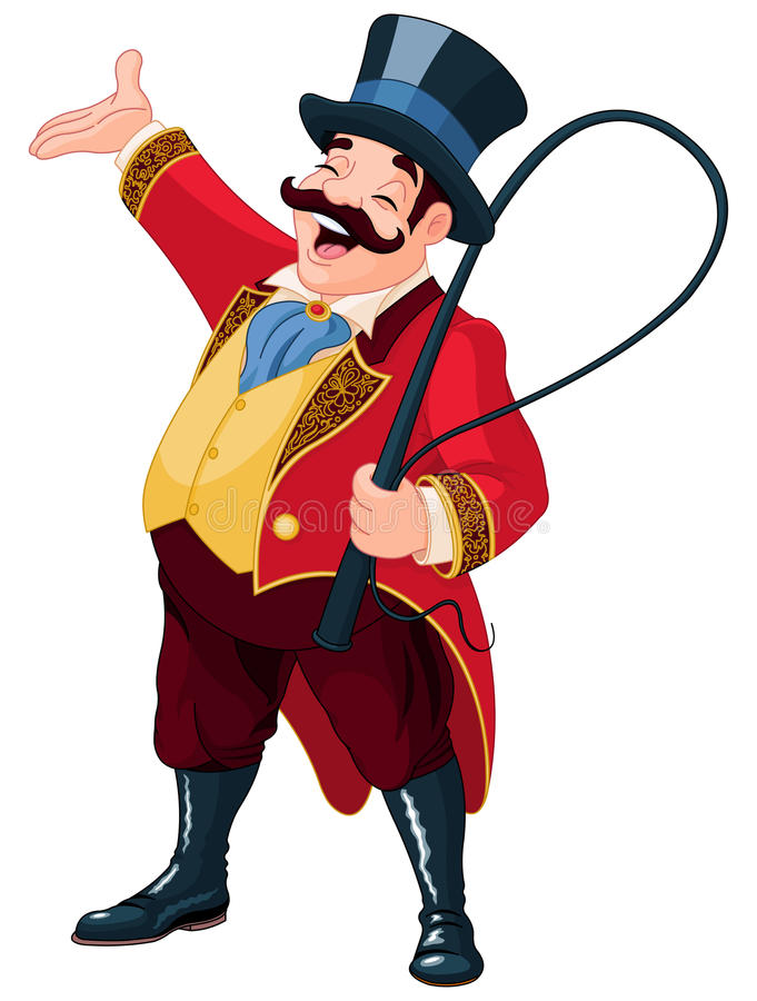 ringmaster illustrazione di stock