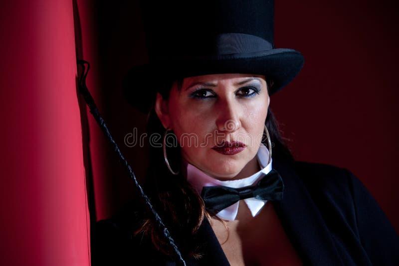 Ringmaster fêmea mau imagem de stock royalty free