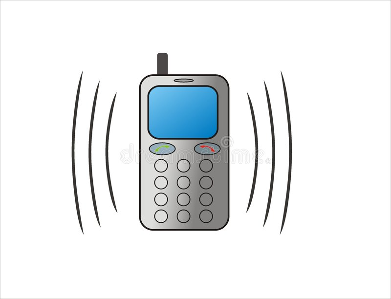 ringning för celltelefon vektor illustrationer
