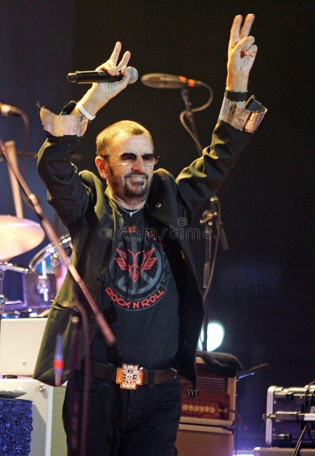 Ringo Starr Performs i konsert royaltyfria foton