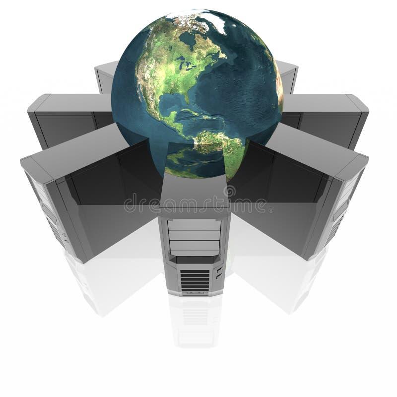 ringowi komputerów serwery ilustracji