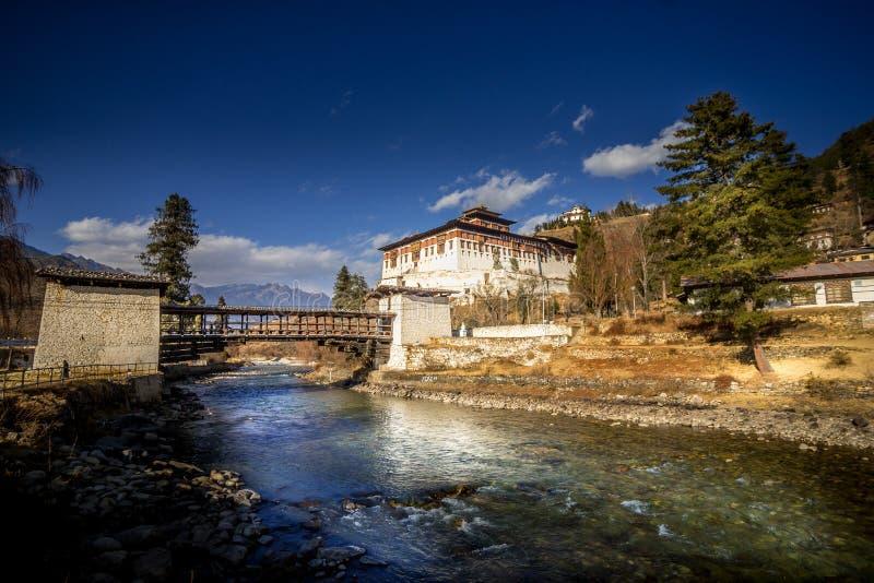 Ringpung Dzong σε Paro, Μπουτάν στοκ φωτογραφία με δικαίωμα ελεύθερης χρήσης
