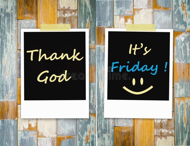 Ringrazi il dio, è venerdì fotografia stock