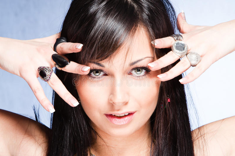Download Rings stock image. Image of bright, beauty, studio, woman - 24318187