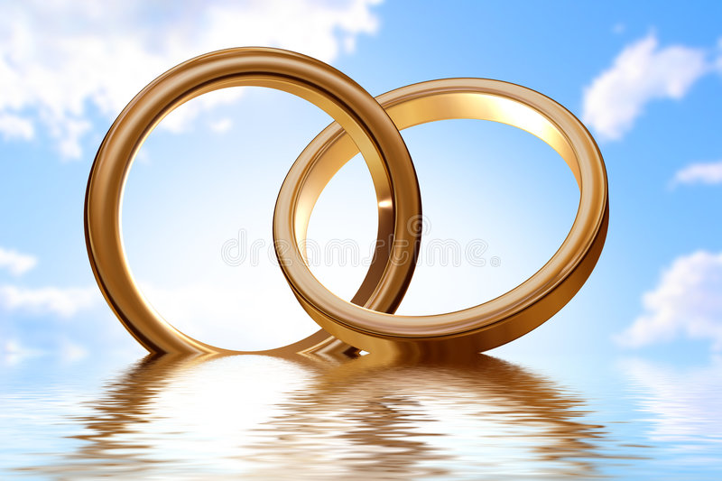 Rings royalty free illustration