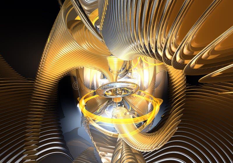 Rings&wires arancioni nello spazio (estratto) fotografia stock